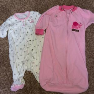 used 0-3 mos Carter's bedtime clothing